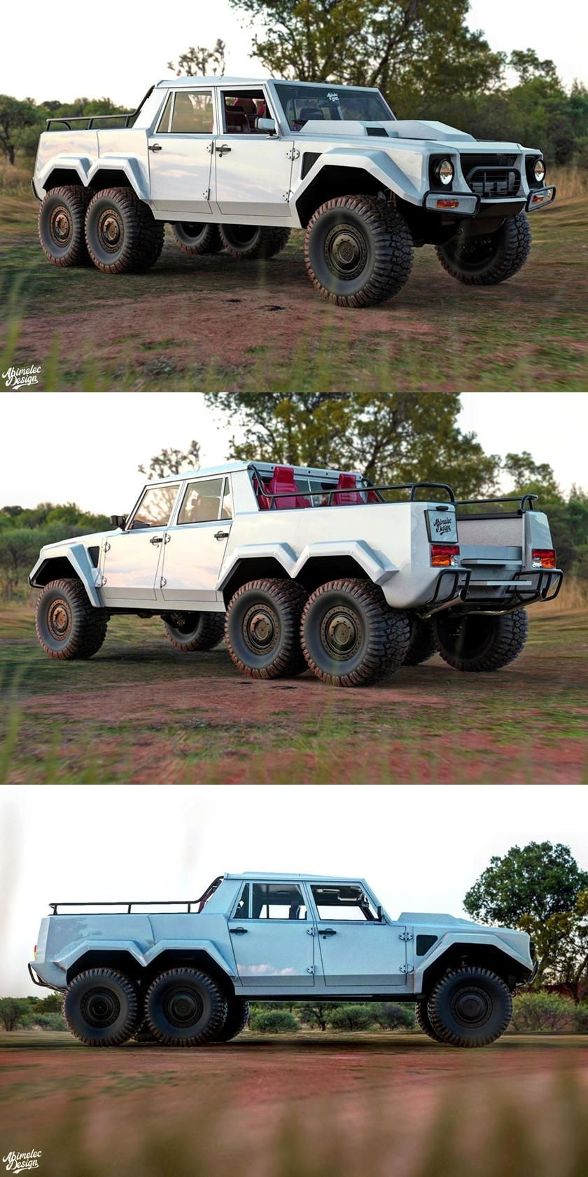 Lamborghini Lm002 6x6 Is The Ultimate Offroader There Must Be Someone Rich Enough To Make This A Reality 6x6 Truck Super Luxury Cars Dream Cars Jeep