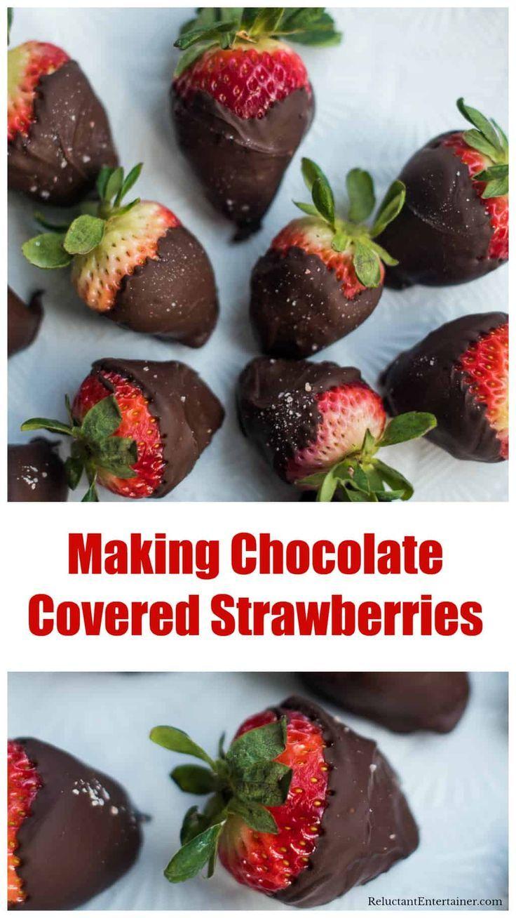 Making Chocolate Covered Strawberries Making chocolate