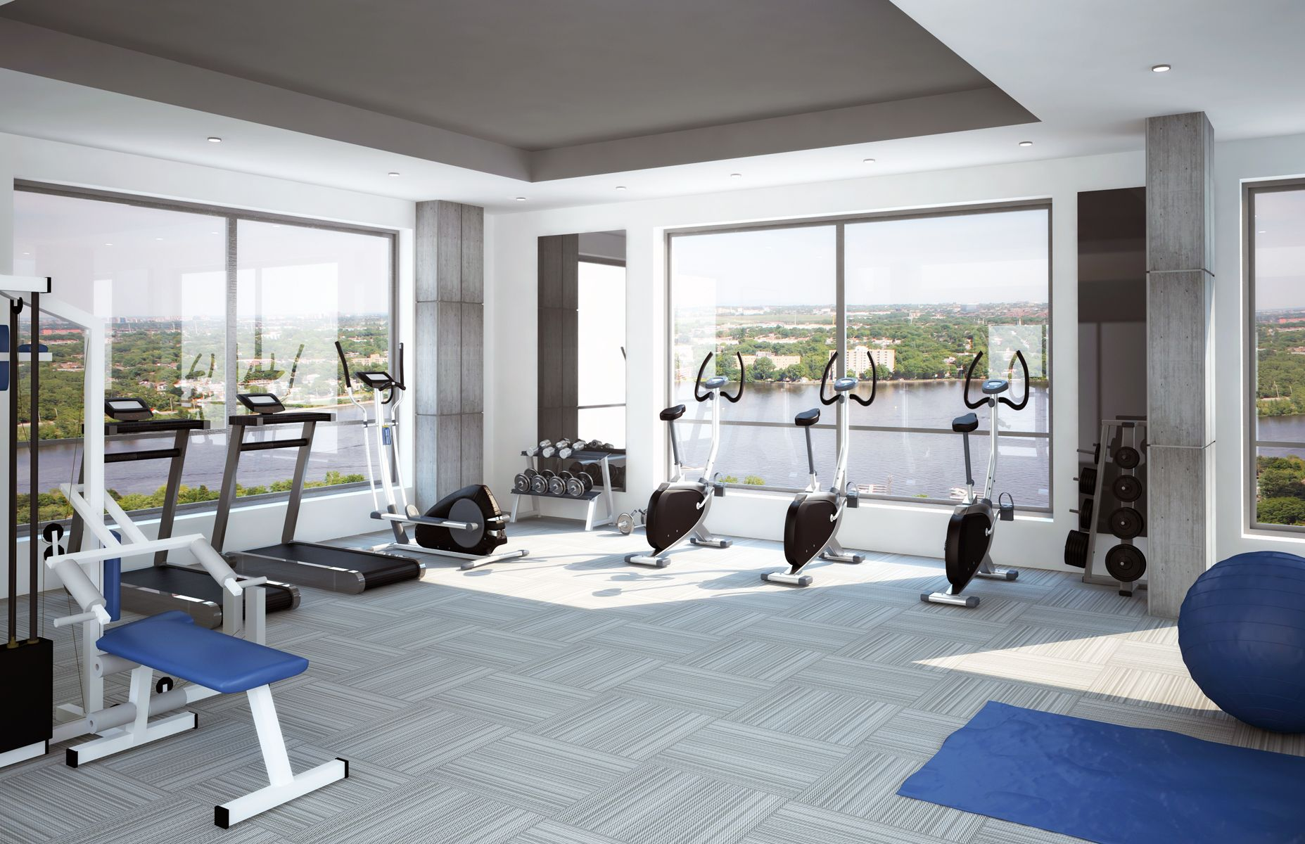 Exercise Rooms Gym Realistic Renderings, The Perfect Marketing Tool For