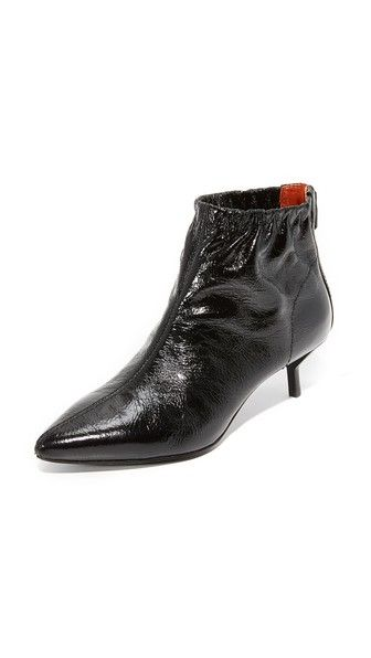 3.1 Phillip Lim Designer Shoes, Blitz Metallic Leather Kitten Heel Booties