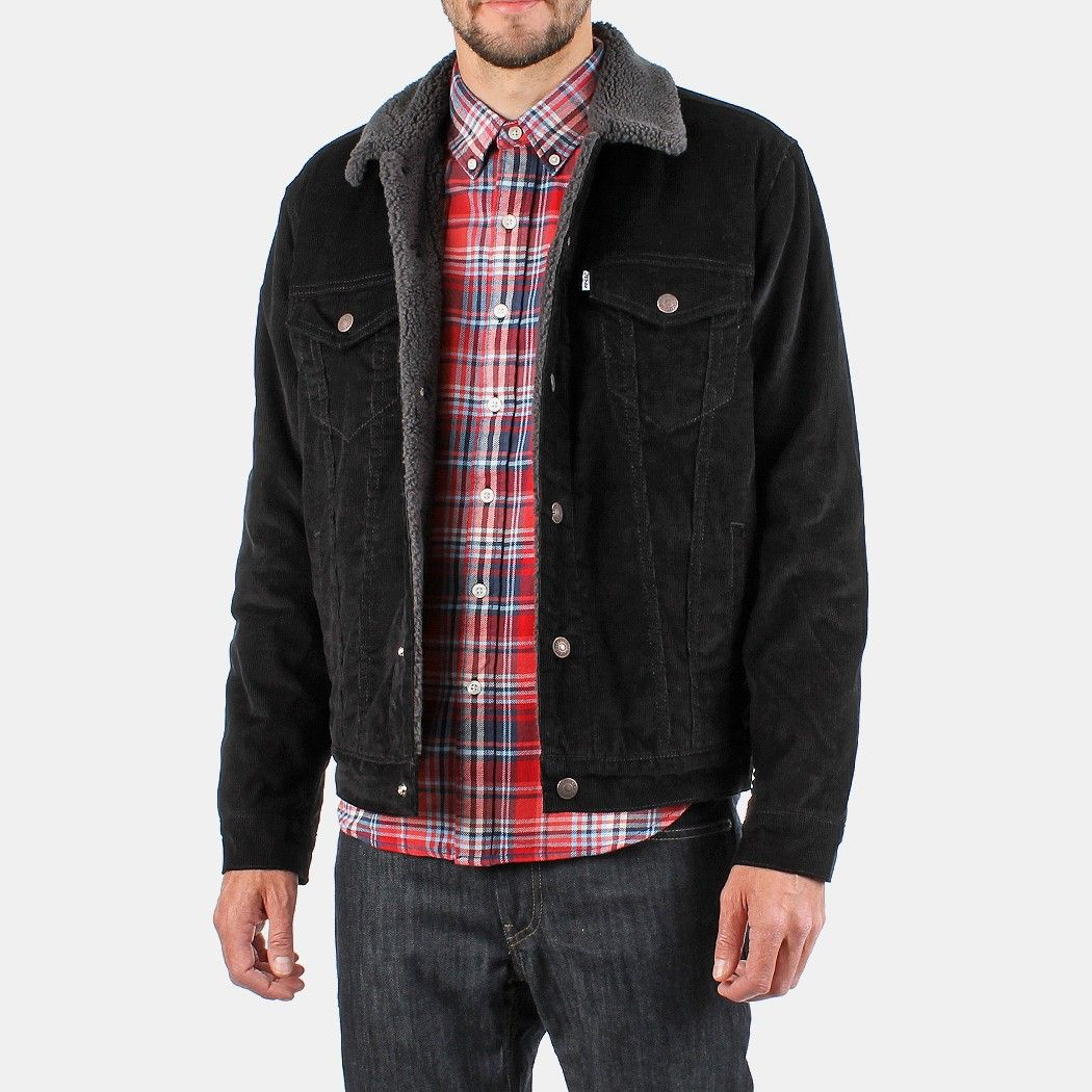 Levis Type 3 Sherpa Trucker Jacket Black Jackets