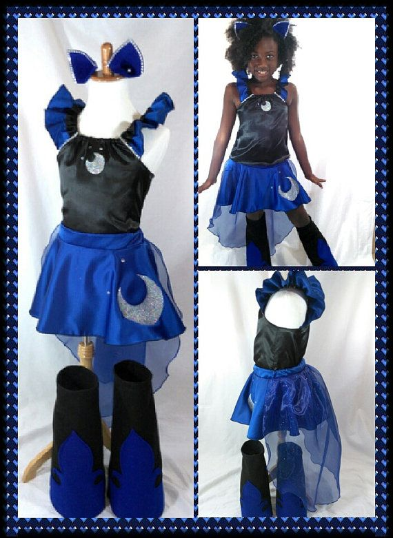 Princess Luna /NightmareMoon https://www.etsy.com/listing/238842987/princess-luna-costume-top-skirt-cape #costume#birthday#mylittlepony#cosplay#teen#mom#parent#cape#halloween