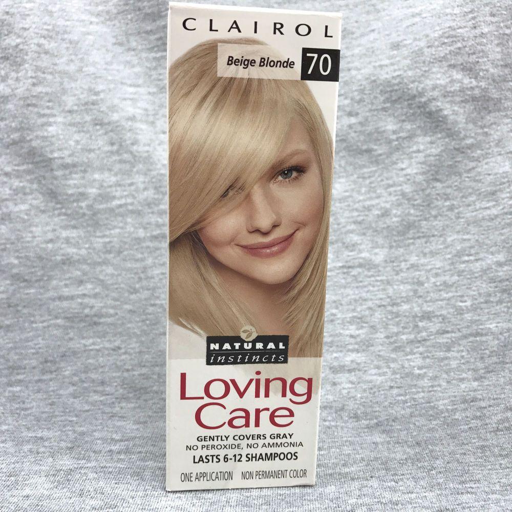 Clairol Loving Care Natural Instincts Beige Blonde 70 Hair Color Dye