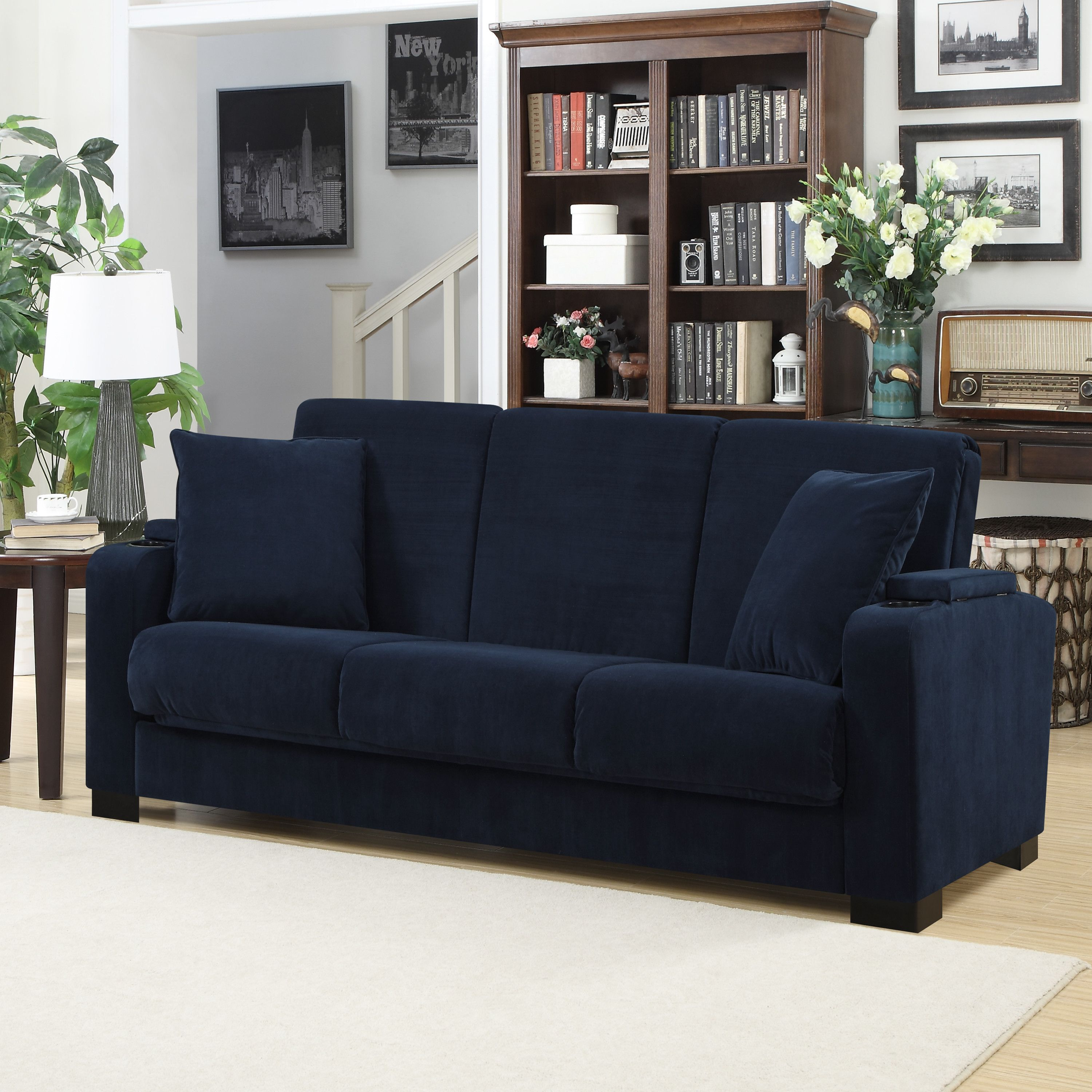 Handy Living Olivia Convert A Couch Sleeper Sofa
