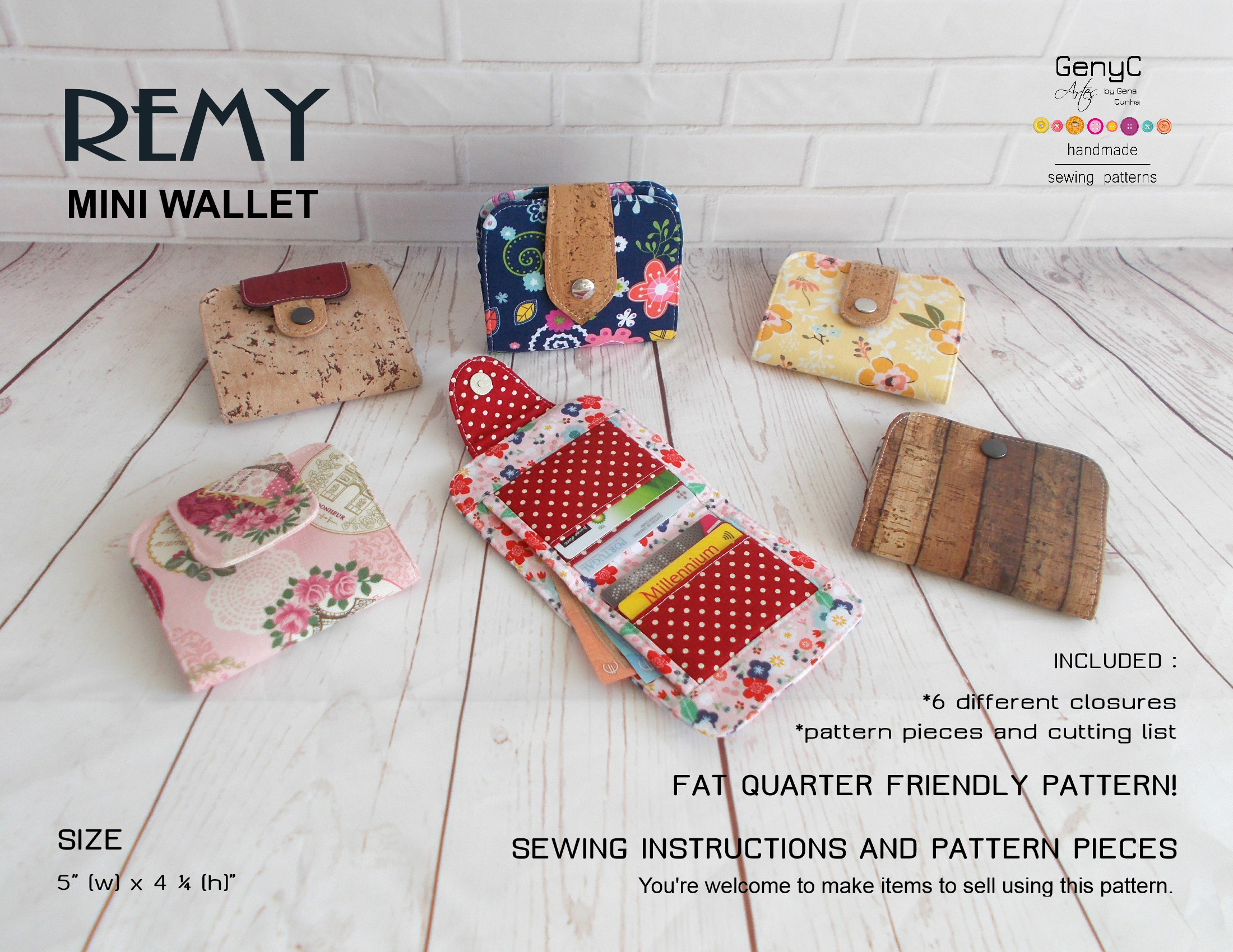 New Release Remy Mini Wallet Sewing Pattern With Images Mini