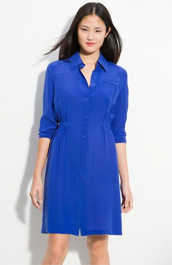 We have this in HOT Pink-Calvin Klein Cinch Waist Shirtdress (Petite) available at Nordstrom Rack KC $44.97