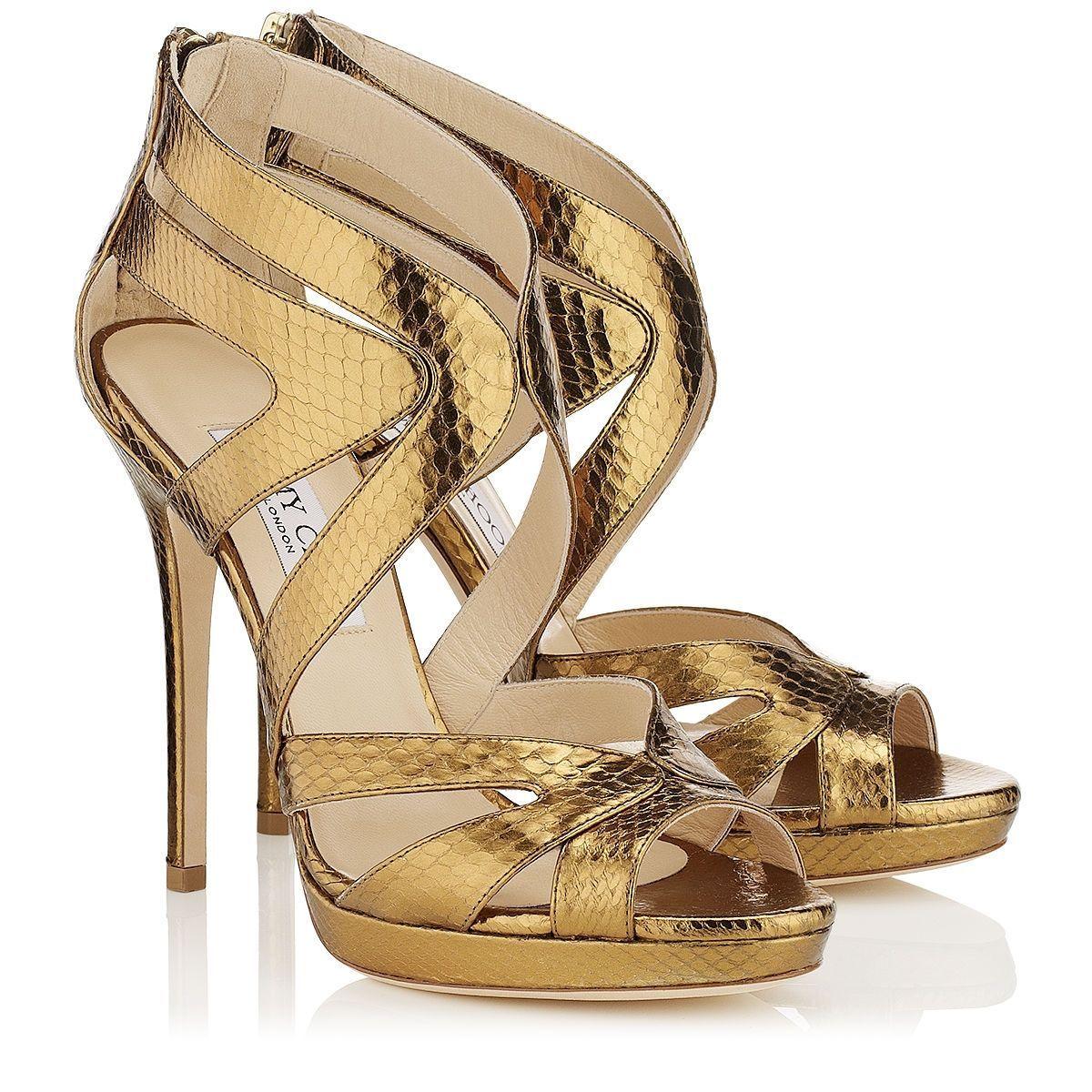 559e9e4c1c1 Jimmy Choo - Collar - 141collarmwa - Bilberry Watersnake Platform Sandals