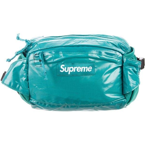a39625df0f34 Pre-owned Supreme 2017 Logo Waist Bag ( 295) ❤ liked on Polyvore featuring  men s fashion