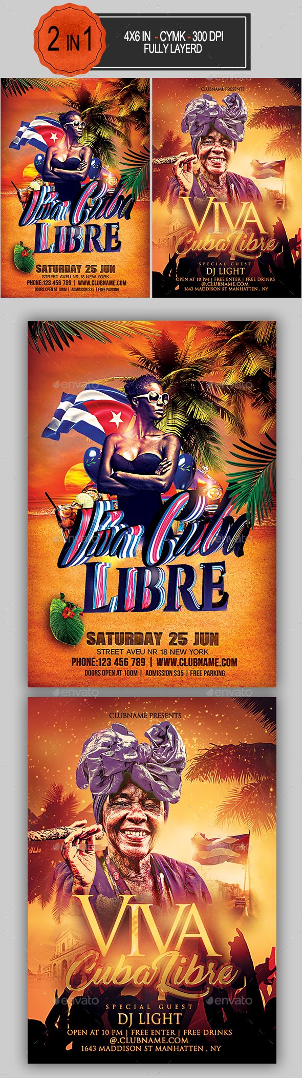 Viva Cuba Libre Flyer Bundle #cubalibre