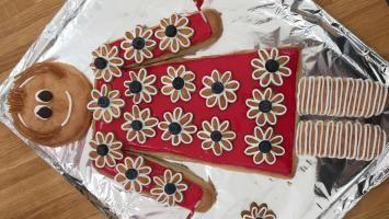 Billede af flot kagekone lavet af kransekage #kransekageopskrift