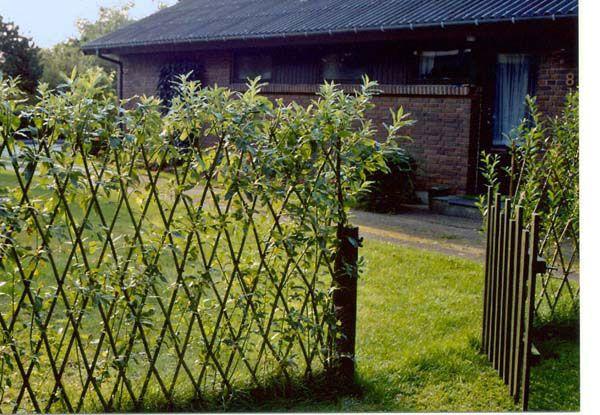 Freitag Weidenart Garten, Zaun und Weidenzaun