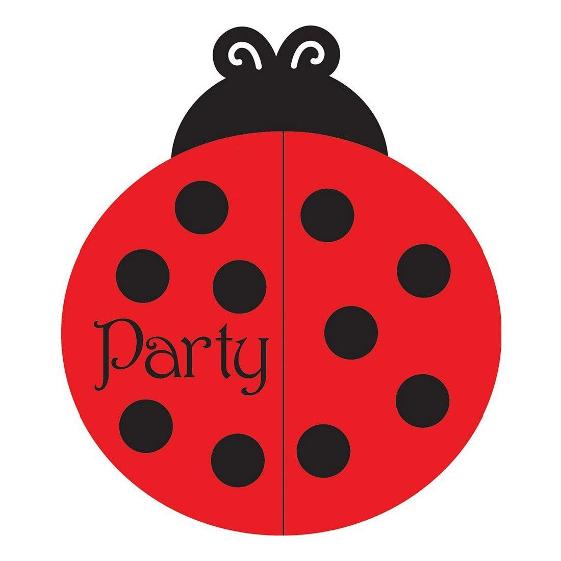 Ladybug Fancy Invitation Bulk Gatefold/Case of 75 | Girl birthday ...