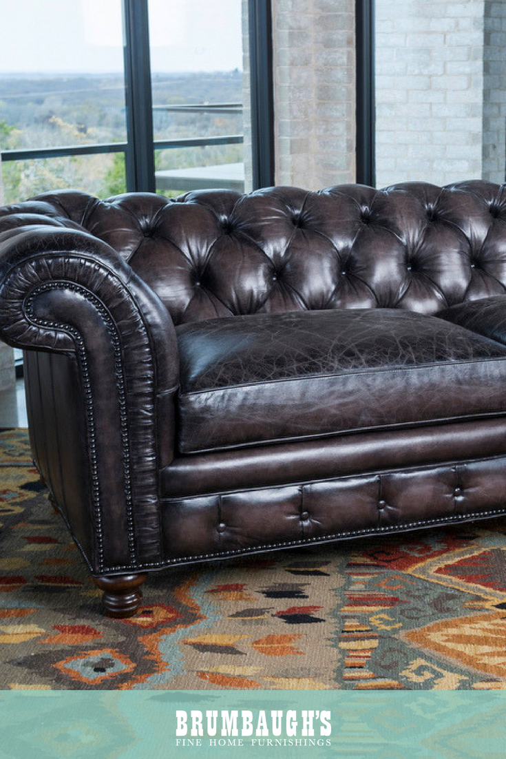 - John Galt Sofa Rustic Leather Sofa, Tuscan Style, Luxury Leather