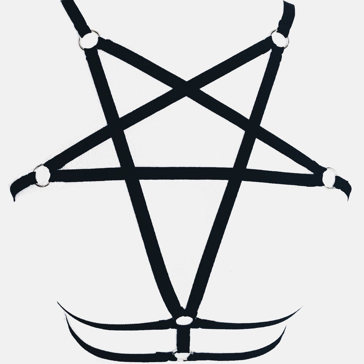 9 99 Black Star Pentagram Harness Use Code Mermaid