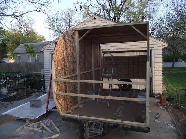 Couple turns moldy pop up camper into beautiful diy trailer rv - The recreational vehicle turned cabin in the woods ...