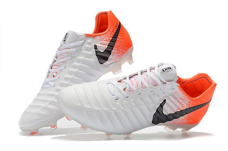 Nike Tiempo Legend 7 Elite Fg New Soccer Cleats White Orange Soccer Cleats Soccer Cleats Nike Nike
