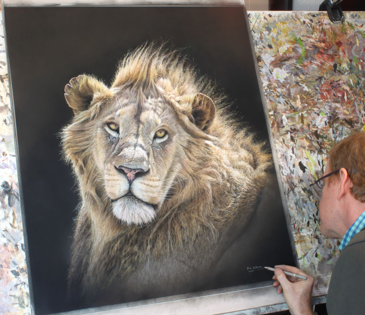 Signing A New Lion Painting Today.. 1/6/15 (With Images