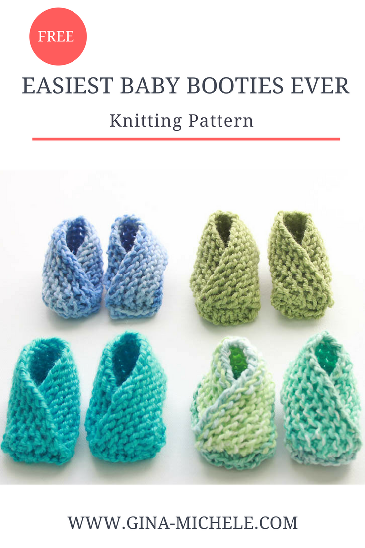 Very Easy Knit Baby Booties Knitting Pattern | Manta, Artesanía y ...