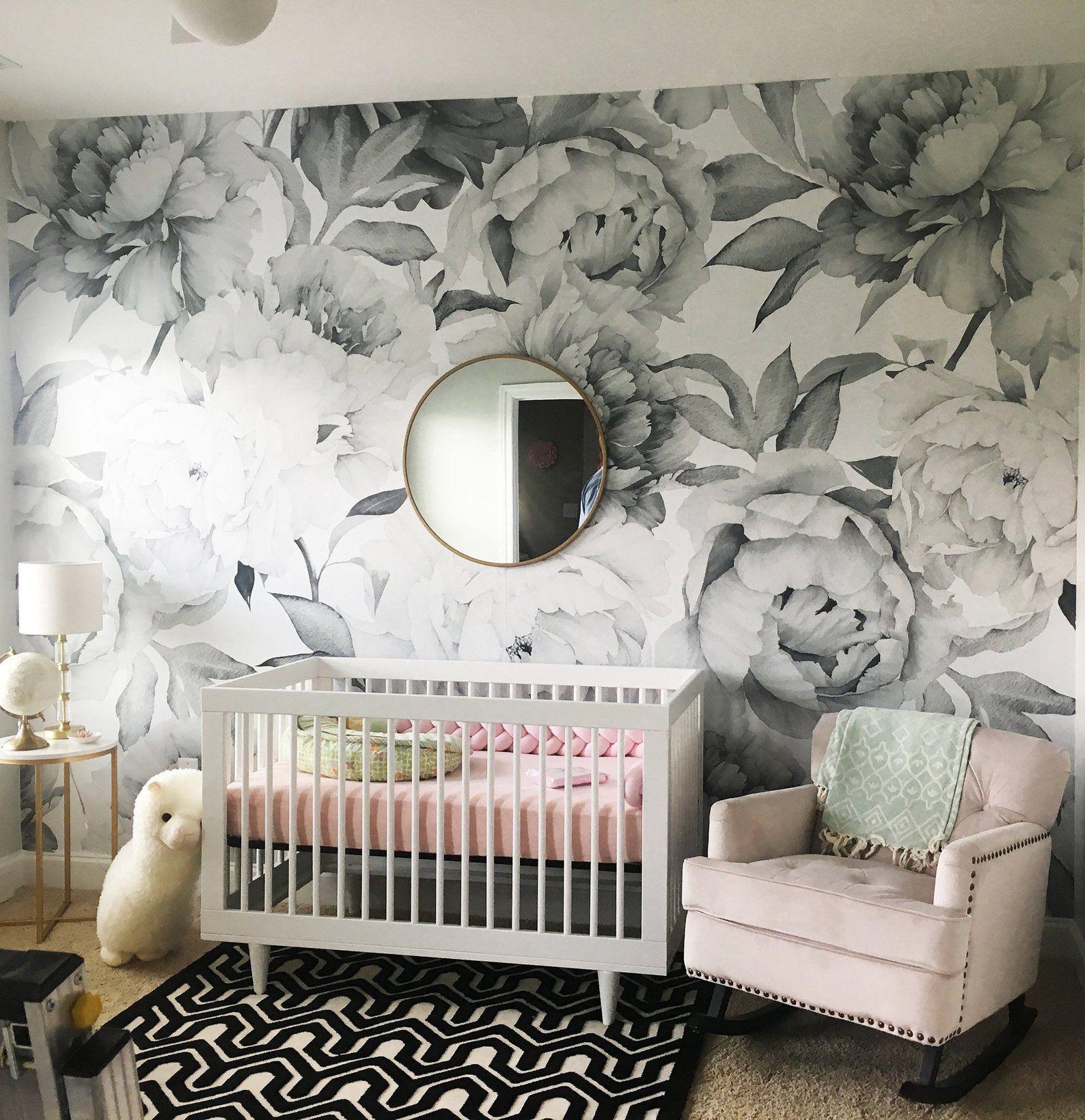 Removable Wallpaper Self Adhesive Wallpaper Watercolor Extra Etsy Nursery Wallpaper Mural Wallpaper Nursery