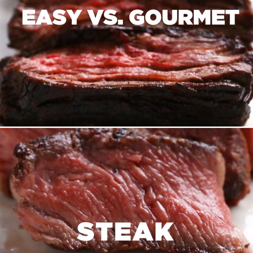 Easy v. Gourmet Steak // #steak #meat #dinner #grill #tasty