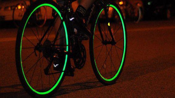 2 x Bike Biking Bicycle Triathalon Wheel Lightening Style Red LED Reflector