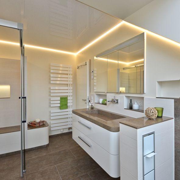 Bildergebnis für indirekte beleuchtung schräge Wohnzimmer - badezimmer mit schräge