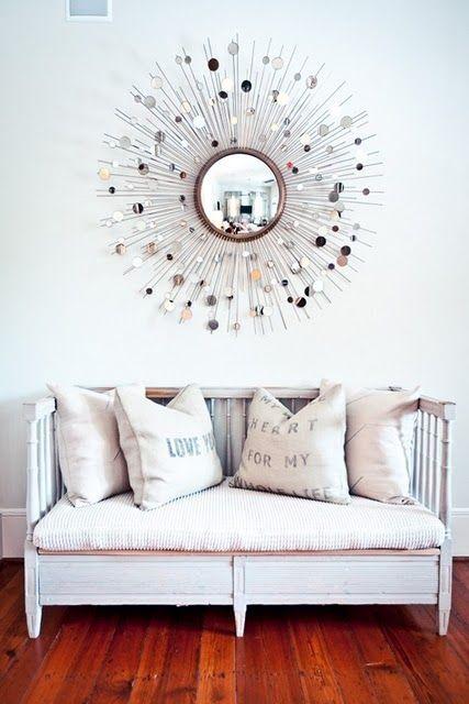 clean & simple. starburst mirror.