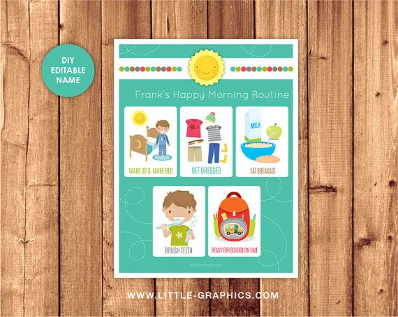 Happy Learners Childrens Morning /& Bedtime Routine Chart