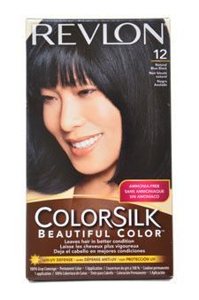 Colorsilk Beautiful Color 12 Natural Blue Black Revlon 1