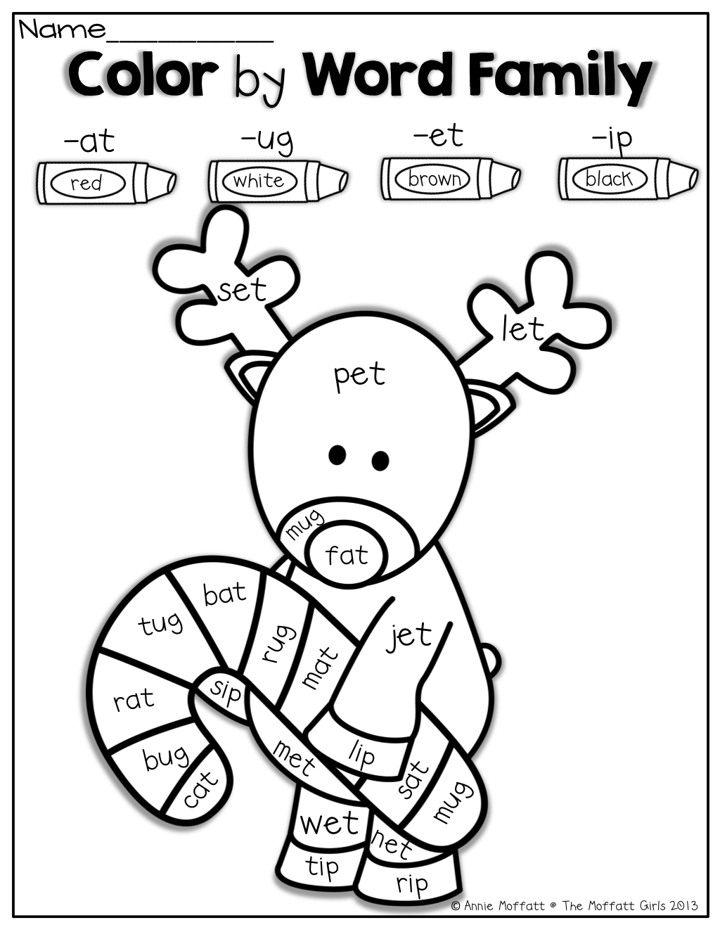 Workbooks holiday worksheets for kindergarten : Color by Word Families! Such a FUN way for kids to practice simple ...