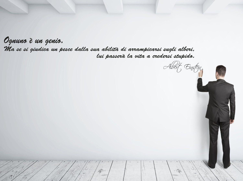 """Oggetti A Basso Costo adesivo murale """"albert einstein: ognuno è un genio  che"""