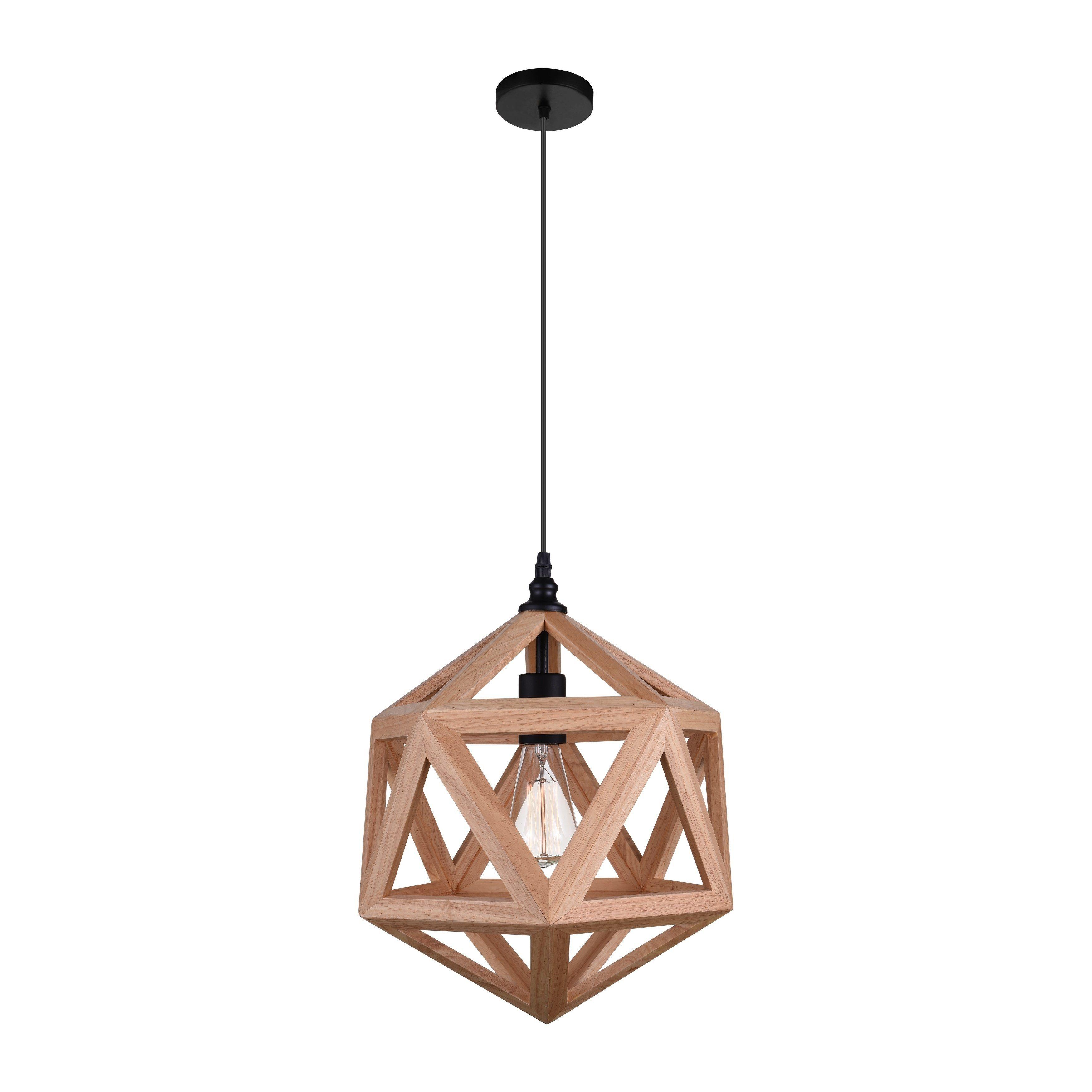 The Gray Barn Bramble Abode 1 Light Mini Pendant With Natural Wood