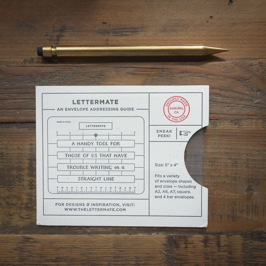 Lettermate Is An Envelope Addressing Guide But We Think ItS So