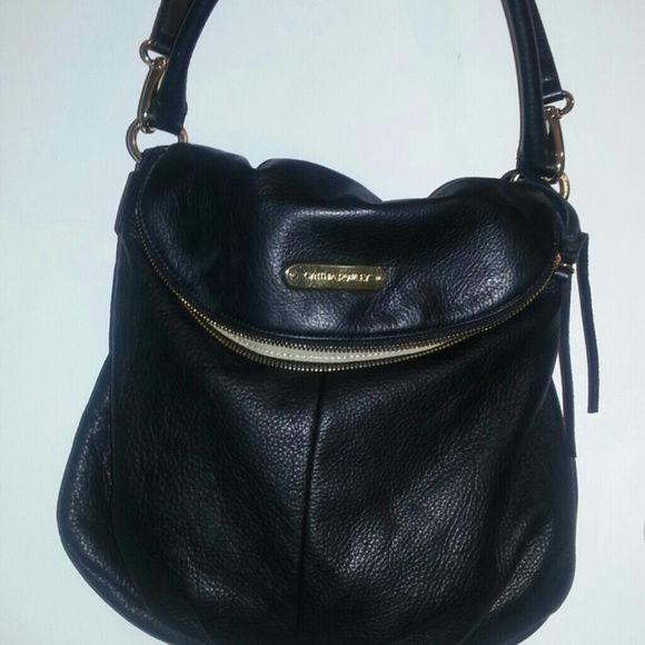 Cynthia Rowley Black Leather Converter Handbag Soft