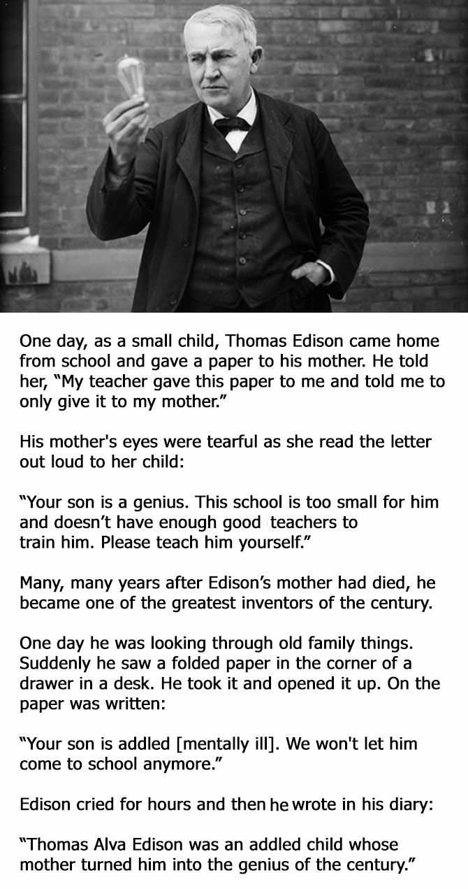 An Inspiring Story About Thomas Edison You Probably Need To Read Now Thomas Edison Quotes Inspirational Story Edison Quotes