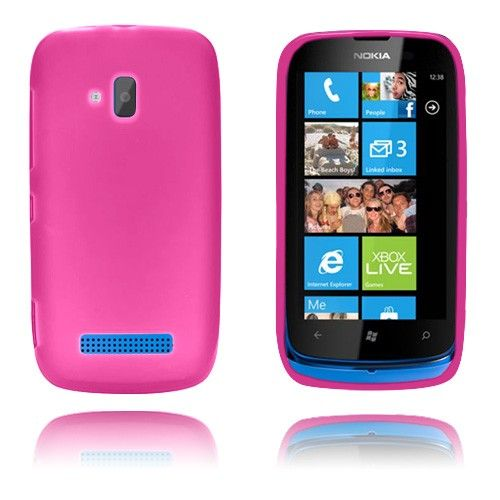 GelCase (Pinkki) Nokia Lumia 610 Suojakuori