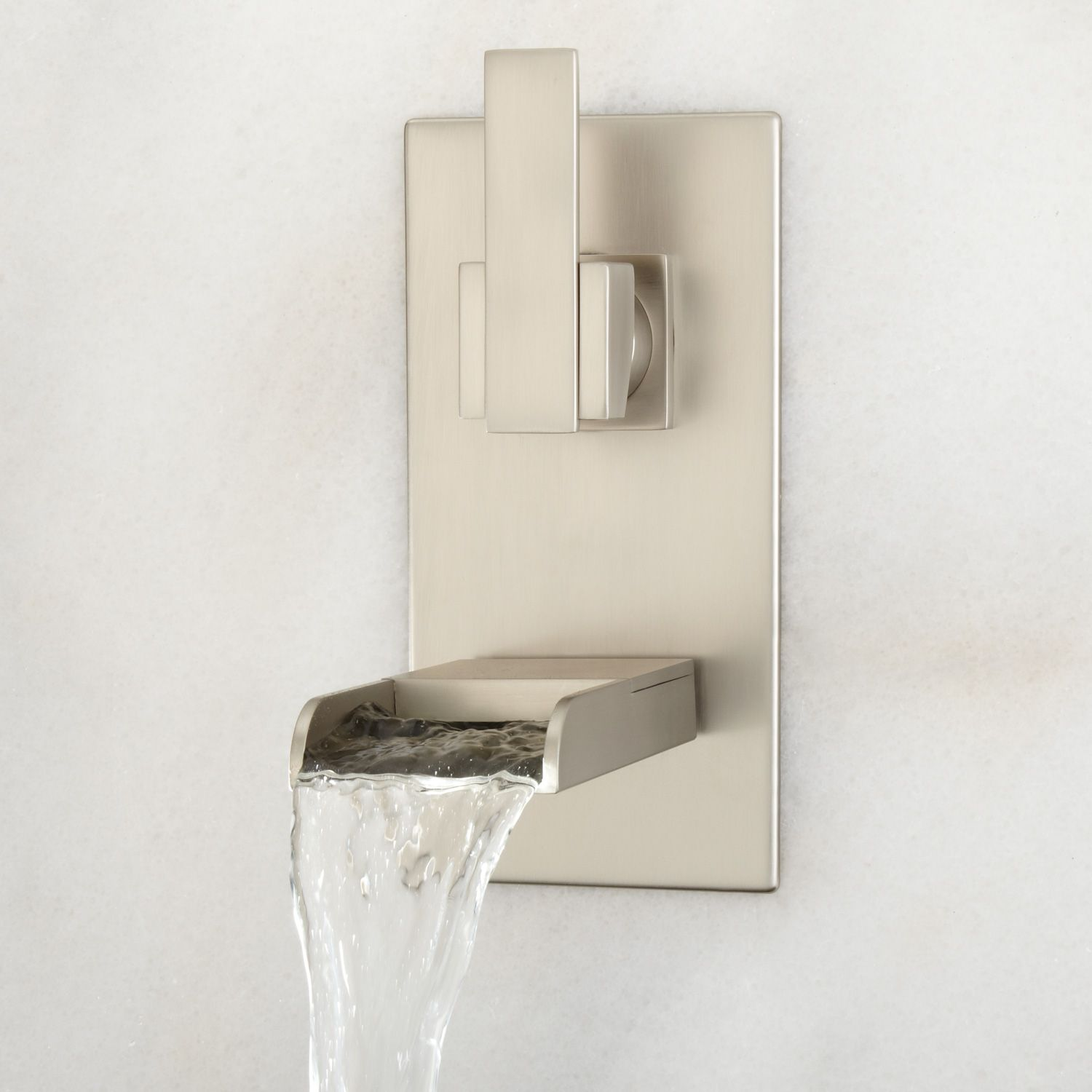 Willis Wall Mount Bathroom Waterfall Faucet Waterfall Faucet Wall Mount And Brushed Nickel