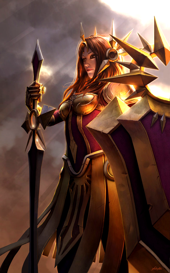 Lol League Of Legends Fan Art Wallpaper Campeões Leona By