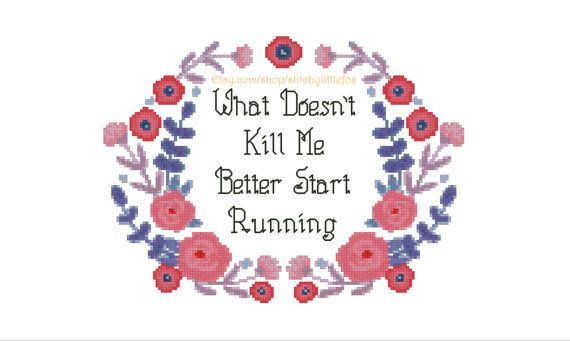 Flower Embroidery Pattern Snarky Cross Stitch Quote Funny
