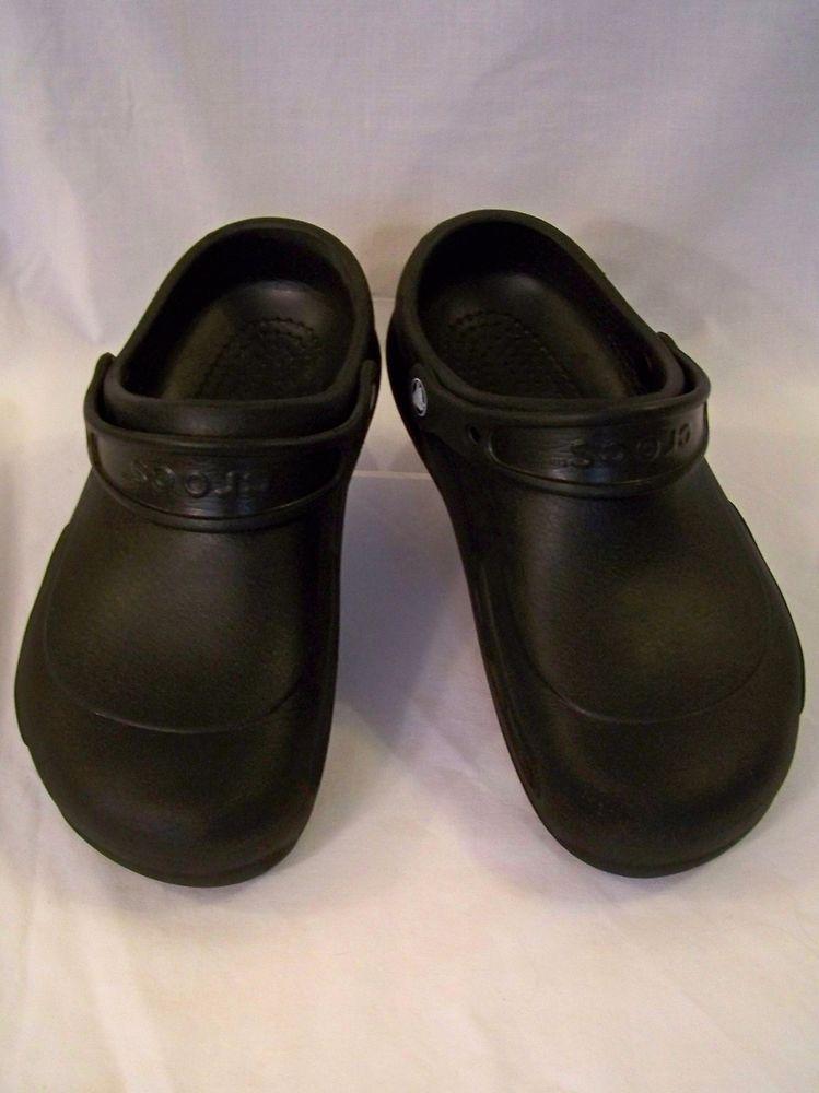 b4b72ecf5 Black Crocs Bistro Clog Slip and Oil Resistant Men s 8 Women s 10  Crocs   WorkShoes
