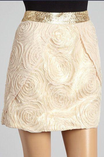 Gold & Cream Rosette Skirt