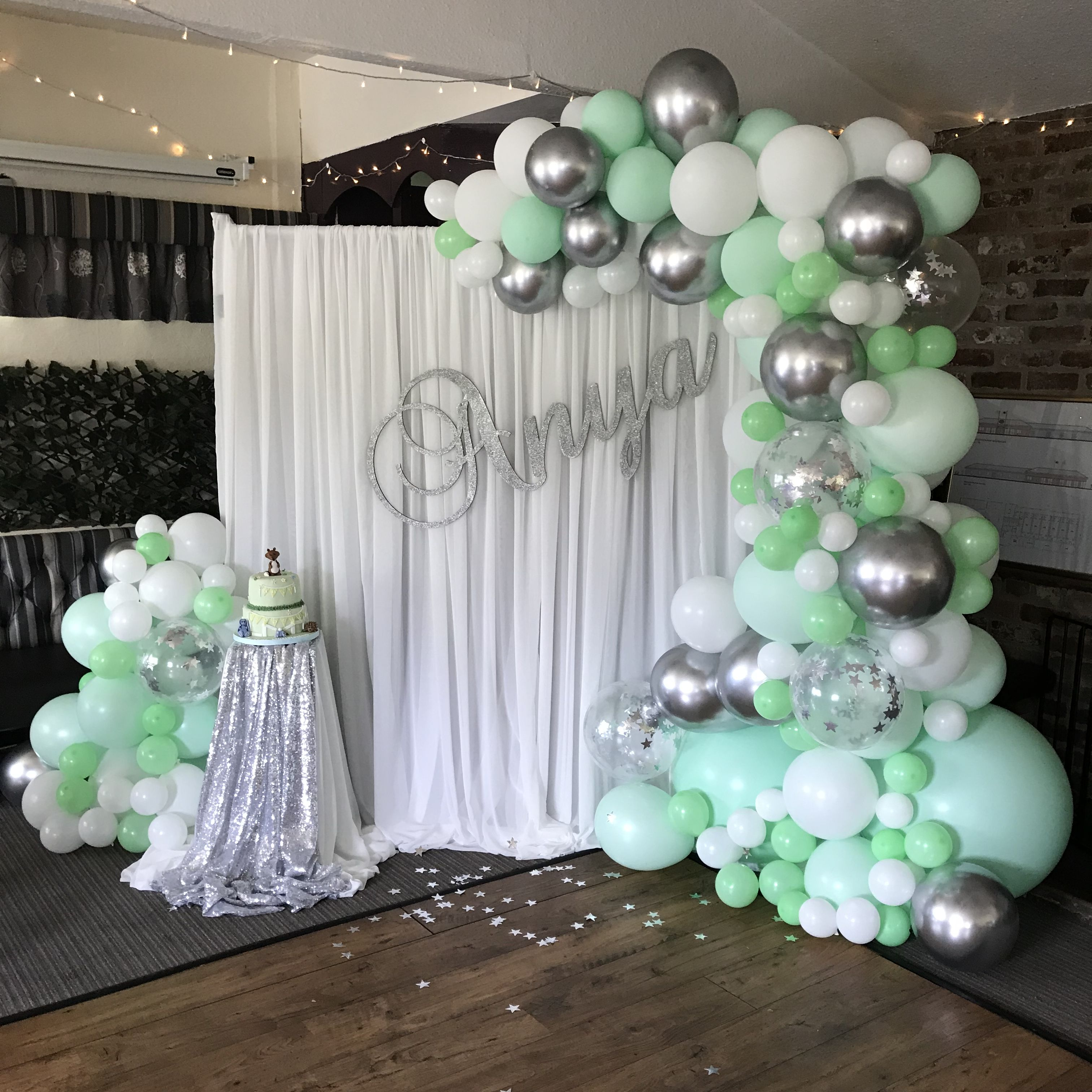 Mint Green Balloon Arch