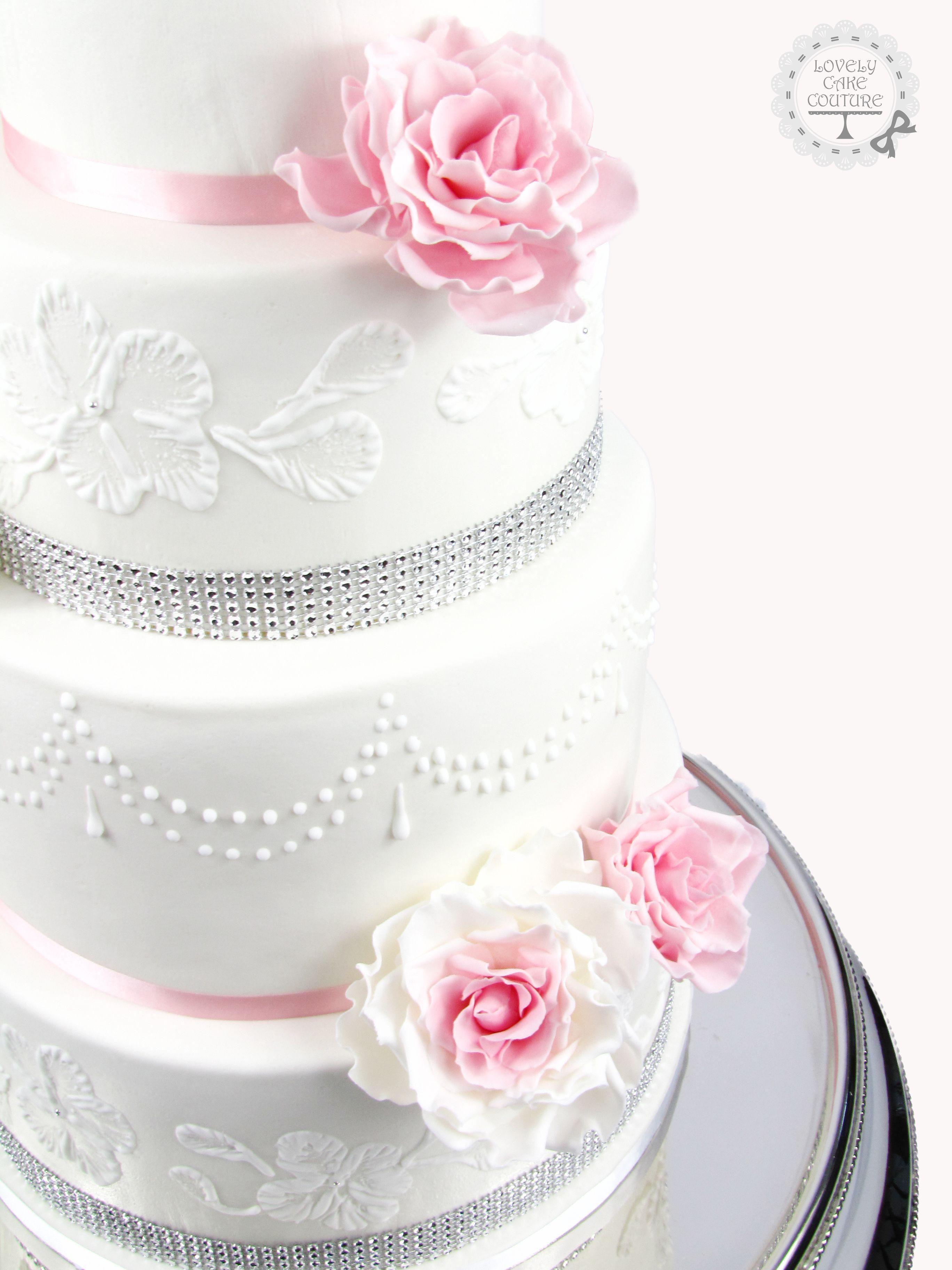 Hochzeitstorte Mit Rosen Aus Fondant Lovely Cake Couture