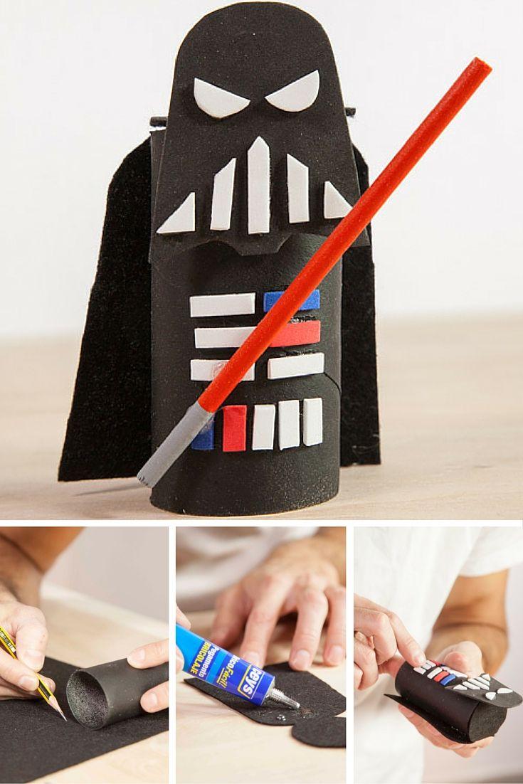 Muñecos de Star Wars de cartón | Pinterest | Rollos de papel ...