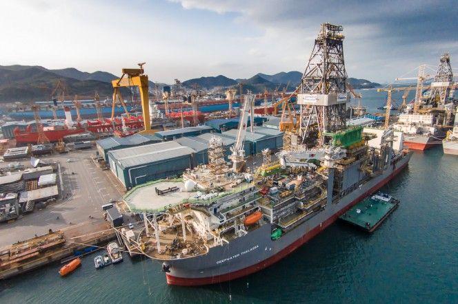 Deepwater Thalassa and Proteus in Korean shipyard - April 2015 (Image: Transocean)