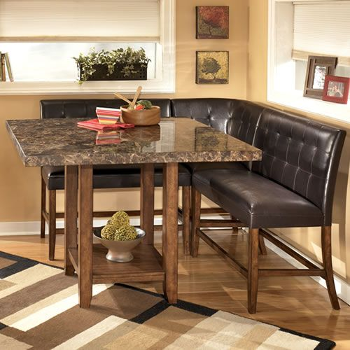 Piece Counter Height Nook By Ashley Furniture Store Chicago Kitchen Table Settings Ashley Furniture Dining Counter Height Kitchen Table Set