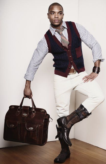 riding boots, great weekend bag. mens fashion.