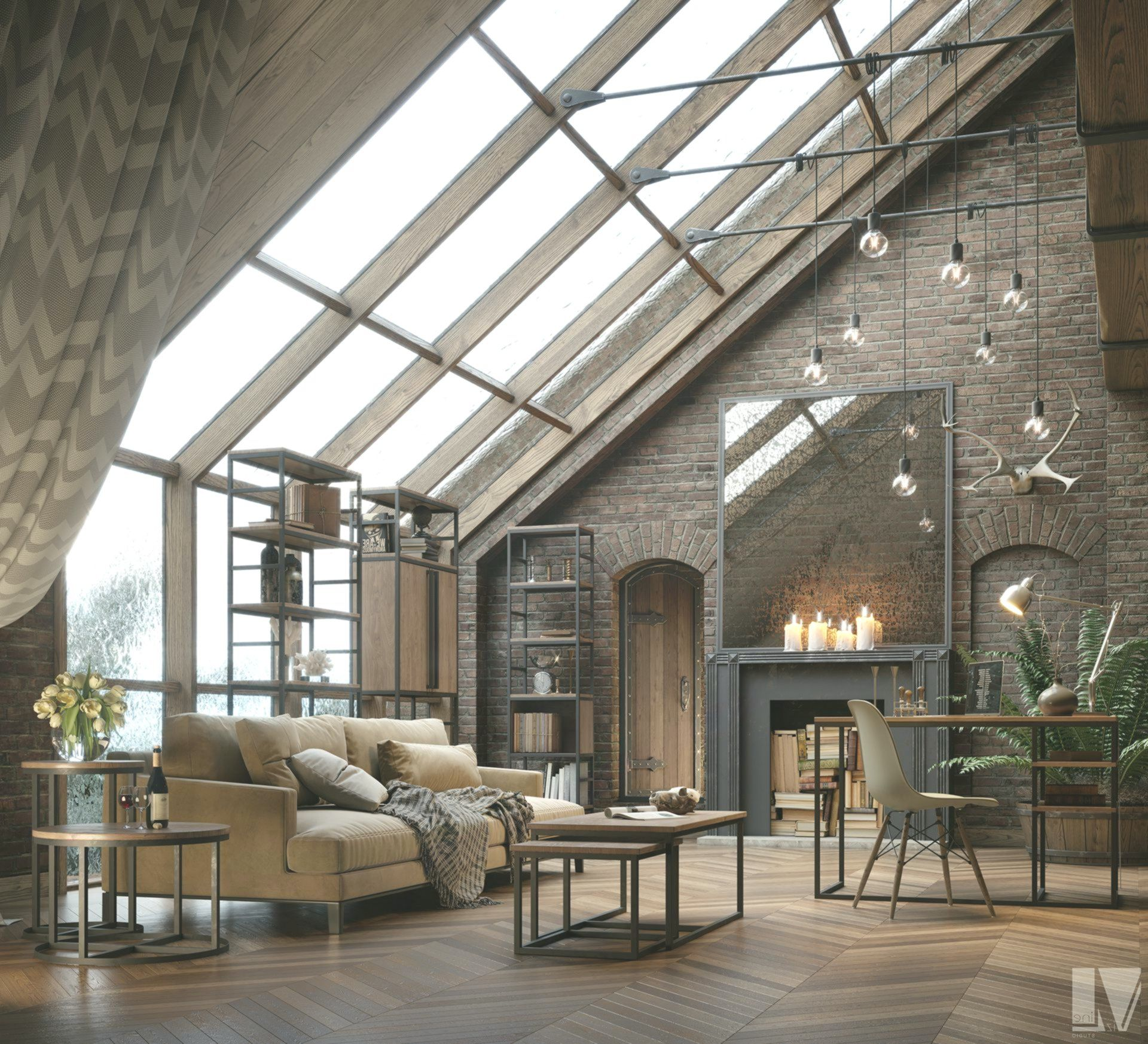Industrial And Vintage Lofts To The East Planete Deco A Homes World In 2020 House Design Loft House