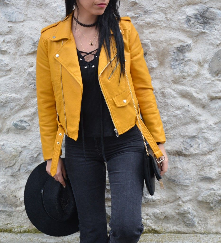 Veste jaune pull and bear