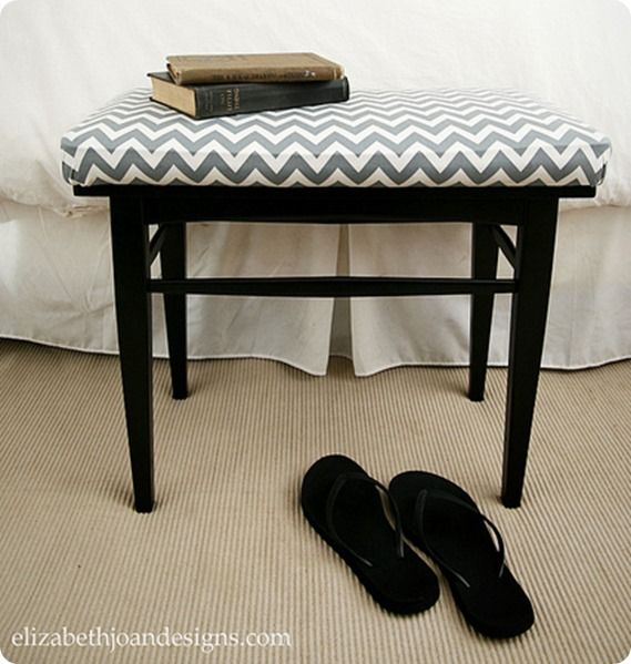 How to Upholster a Bench - the Lazy Way! What ill be doing to the chairs soon...